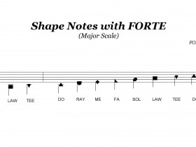 Shape notes with FORTE