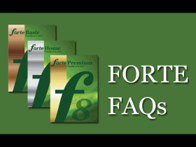 [FAQ] Frequently asked questions about FORTE 8