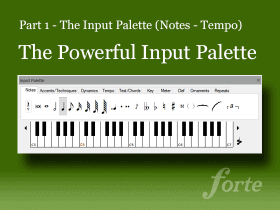 The Powerful Input Palette (Part 1)