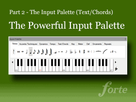 The Powerful Input Palette – Lyrics & Texts (Part 2)
