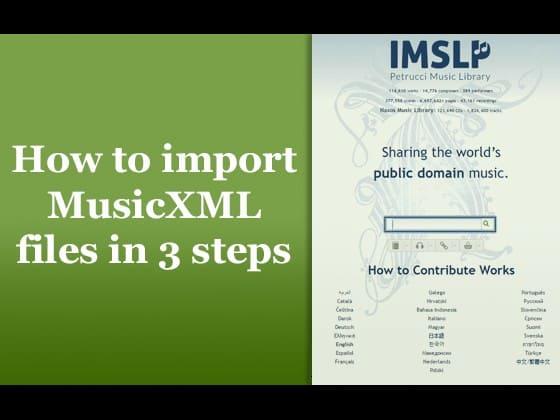 MusicXML Import