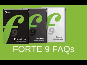 FORTE 9 – FAQ