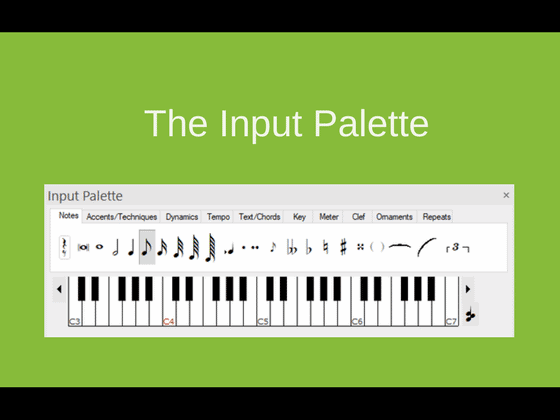 How to Write Notes - The Input Palette | Forte Notation