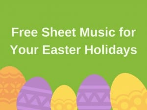 Image announcing free sheet music for Easter